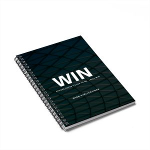 """WIN"" Spiral Notebook – Ruled Line"