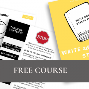 Write Now, Stree Free – Online Course