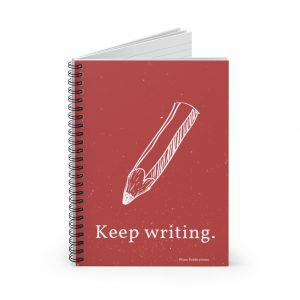 KEEP WRITING. Spiral Notebook – Ruled Line