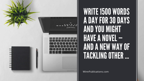 Write 1500 words a day for 30 days and you might have a novel — and a new way of tackling other …