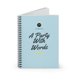 A Party With Words Spiral Notebook – Ruled Line